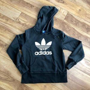 Adidas Black & White Trefoil Hoodie